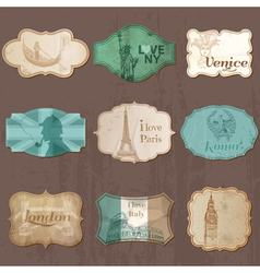 Vintage Design City Elements for Scrapbook vector image vector image