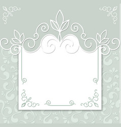 Wedding card or invitation vector image vector image