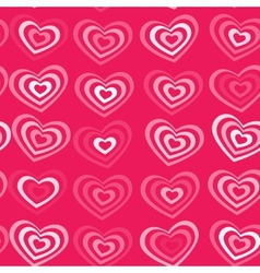 white striped heart on pink background Valentines vector image vector image
