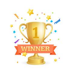 Winner success achievement concept vector