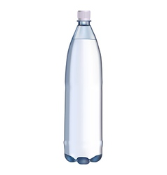 Plastic water bottle vector