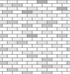 Wall of white bricks and gray vector