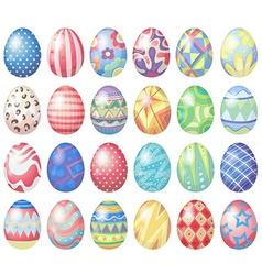Pastel eggs vector image