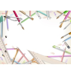 School supplies on white eps 10 vector