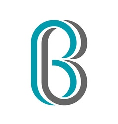 Twisted letter b icon vector
