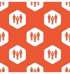 Orange hexagon work team pattern vector