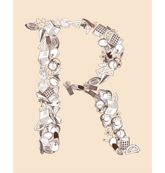 R school alphabet letter vector