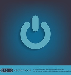 Power sign character on and off vector