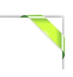 card with green ribbon vector image