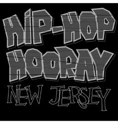 Hip-hop style t-shirt vector