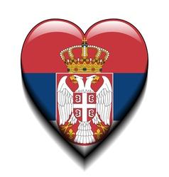I love Serbia vector image