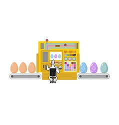 Happy Easter Apparatus for production of Easter vector image