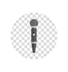 Microphone design flat isolated vector