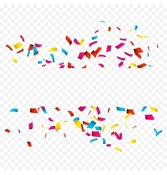 Colorful confetti isolated on white confetti vector
