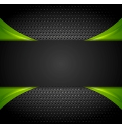 Abstract dark corporate background vector image vector image