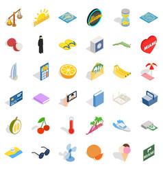 Banana icons set isometric style vector
