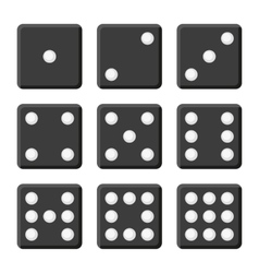 Black Dice Set on White Background vector image