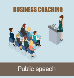 business coaching vector image vector image