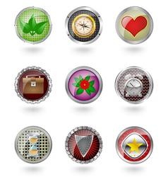 Button icon set vector image