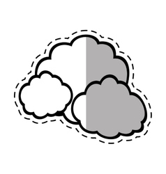 Cloud climate weather shadow vector