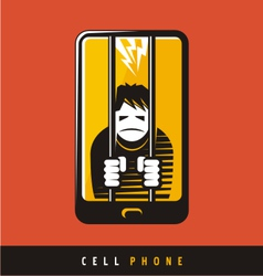 Creative poster design for cell phone vector image