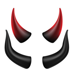 devils horns good for halloween party vector image