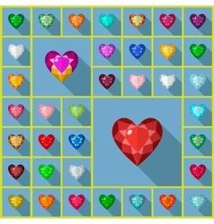 Gems heart vector