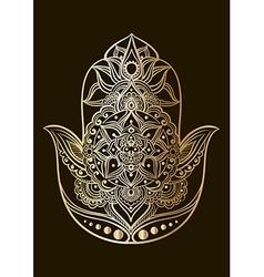 Golden hamsa vector