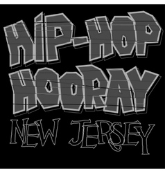 Hip-hop style t-shirt vector image vector image