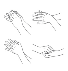 Hygiene and healthy joints set vector