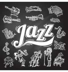 Jazz Chalkboard Set vector image vector image