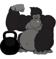Monkey athlete vector image vector image