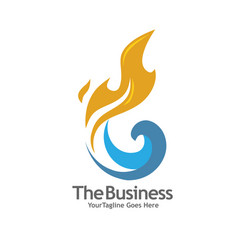 Oil gas energy and fire concept logo vector