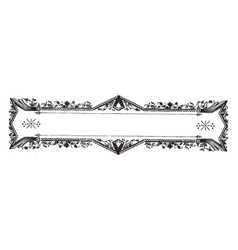 Ornate banner have flowers and leaves border vector
