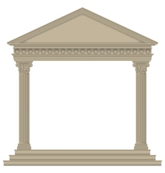 RomanGreek Temple vector image