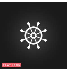 rudder web flat icon vector image vector image