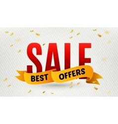 Sale inscription on confetti background vector image vector image