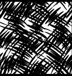 seamless pattern with black blots vector image