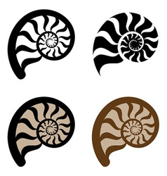 shell silhouette vector image vector image