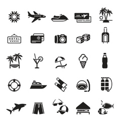 signs vacation travel recreation vector image vector image
