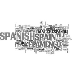 Spanish word cloud concept vector