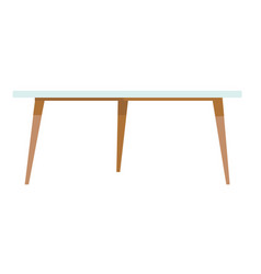 white coffee table cartoon vector image vector image