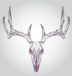 Wireframe hipster design deer skull head vector