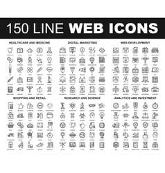 Line Web Icons vector image