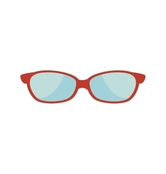 Glasses whit red frame vector