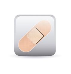 Bandage inside frame design vector
