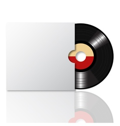 Vinyl record with cover 2 vector image