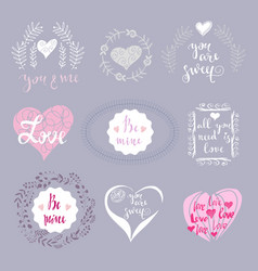 Set of love elements vector