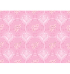 Day of Valentine pattern vector image