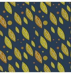 Seamless autumn falling leaves pattern vector